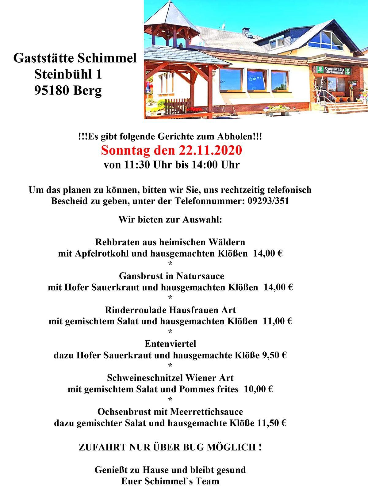 GaststätteSchimmel Abholservise_22-11-2020